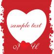 carte grungy rouge Saint-Valentin — Vecteur