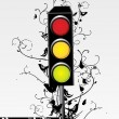 Swirl design traffic light — Stock Vector