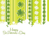 Creative shamrock background — Stock Vector
