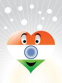 Patriotische indische Herz vektor wallpaper — Stockvektor