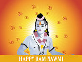 Rays and om with lord rama — Vector de stock