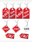 Red vector shoping tags — Stock Vector