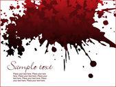 Red grunge floral illustration — Stock Vector