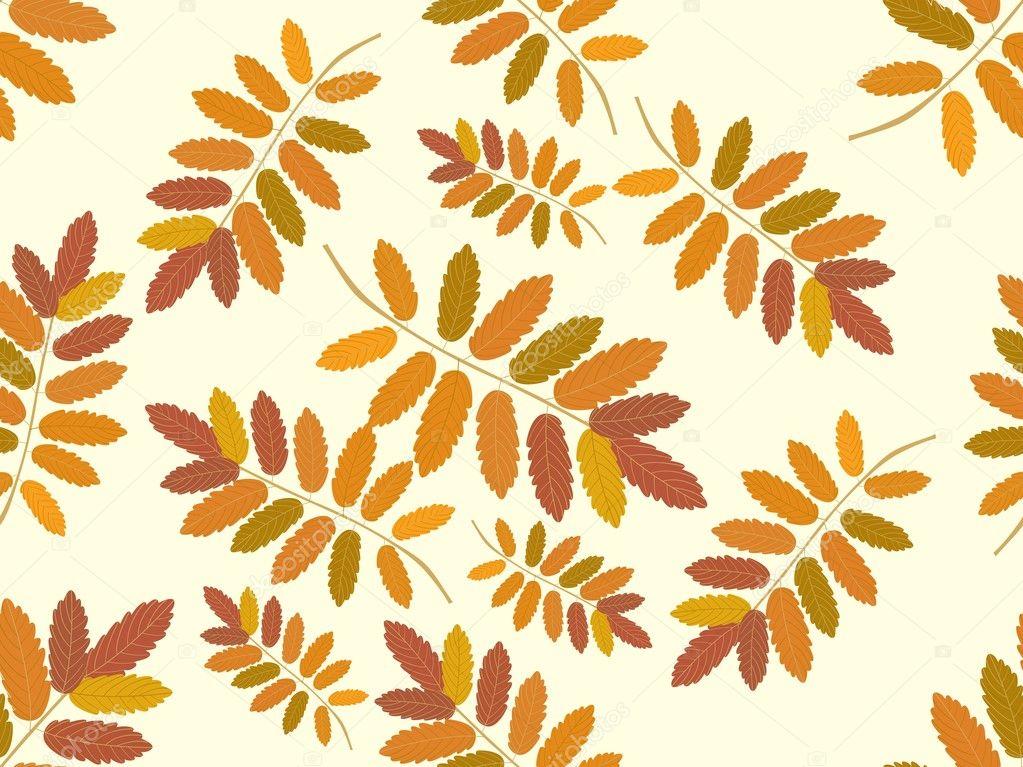 与秋天的树叶背景 — 图库矢量图像08