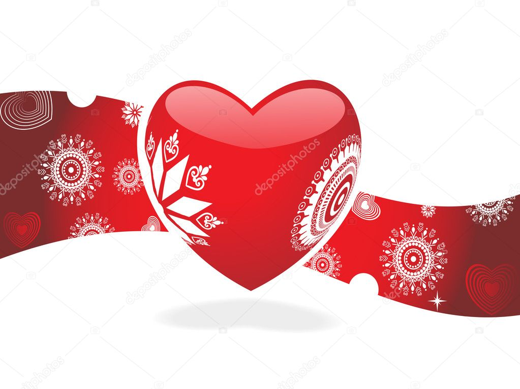 Retro heart for sample text  Stock Vector #3058370