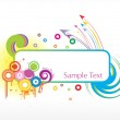 Sample text frame with arrow background — Stock Vector #3069182