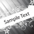 Sample text with floral - Stock Vector