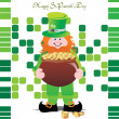 A leprechaun abstract illustration - Stock Vector
