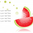 Slice of watermelon on white — Stock Vector #3069732