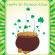 Stock Vector: Illustration for st patrick day