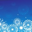 Snowflake background - Imagen vectorial