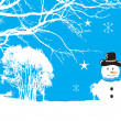 Snowflaks christmas background — Stock Vector