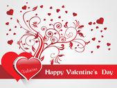 Coeurs romantiques et bannière floral vector — Vecteur