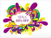 Sale 50% off and many swirl — Stock Vector
