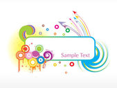 Sample text frame with arrow background — Stock Vector