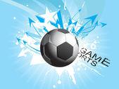 Illustration of grungy soccer — Stock Vector