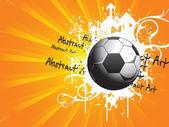Grunge Fußball mit Pfeilspitze — Stockvektor