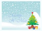 Achtergrond van kerst boom — Stockvector
