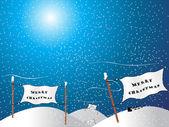Snowfall on the christmas — Stock Vector