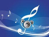 Speaker and tune wallpaper — Stock Vector