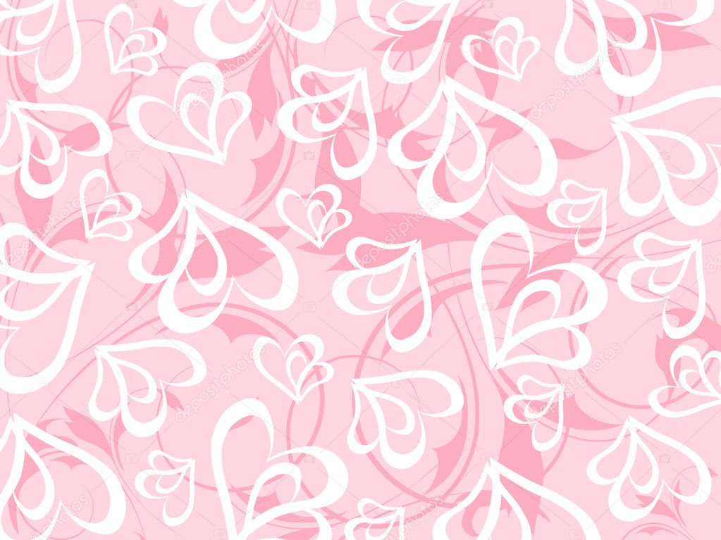 Romantic floral vector background  Image vectorielle #3068838