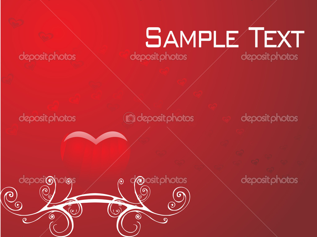 Romantic vector background — Stock Vector #3068984