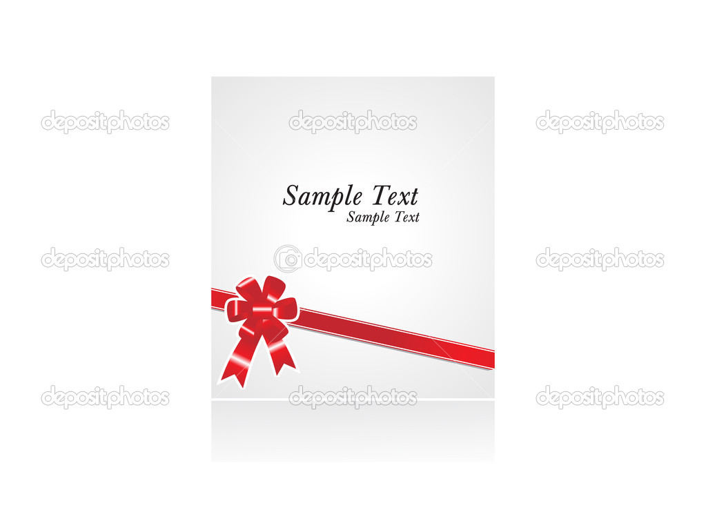 Sample text with red bow, wallpaper — Stock Vector #3069088