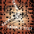 Sample text on brick wall — Stock Vector
