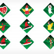 Set of christmas sticker vector — Stock Vector