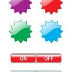 Set of vector stickers — Stock Vector