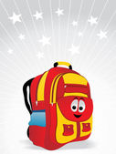 School bag for kid vector illustration — Stock Vector