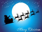 Santa claus and his sleigh — Stock Vector