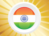 Silver shield with indian flag — Stock Vector