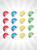 Set of color labels, sticker, badges — Stock Vector