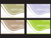 Set of colorful vector business labels — Stock Vector