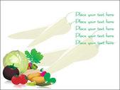 Insieme di verdure isolato su bianco — Vettoriale Stock