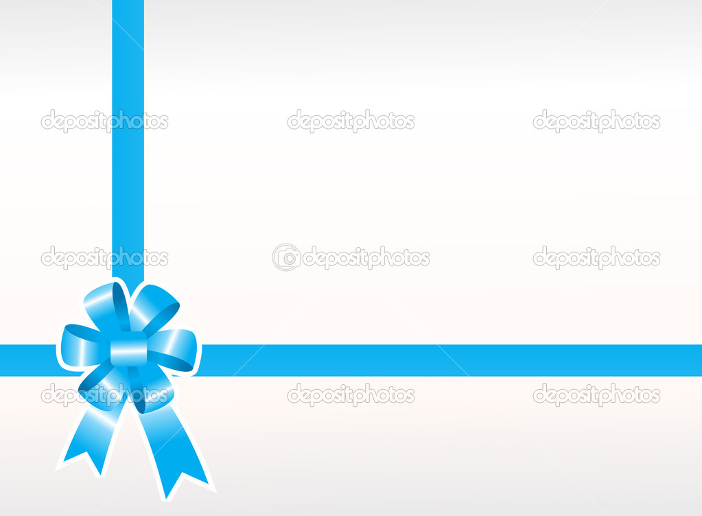 Shiny blue package bows — Stock Vector #3073584