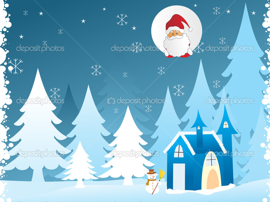 Snowman, vector illustration — Stock Vector #3073937