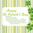 St. patric card with place for text — Stock Vector