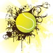 Tennis ball, illustration — Stock Vector