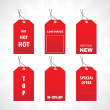 Tags for new stock in red — Stock Vector #3092010