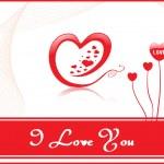 Stylový Valentýn nápis — Stock vektor