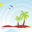Summer background vector — Stock Vector