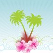 Summer background vector banner — Imagen vectorial