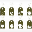 St. patrick's day marketing tags — Stock Vector