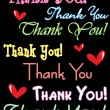 Vector thank you notecard - Stockvektor