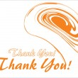Stock Vector: Abstract thank you background
