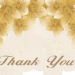 Thank you background - Stock Vector