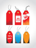 Tags for discount sale, collection — Stock Vector