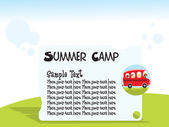 Summer camp background — Stock Vector